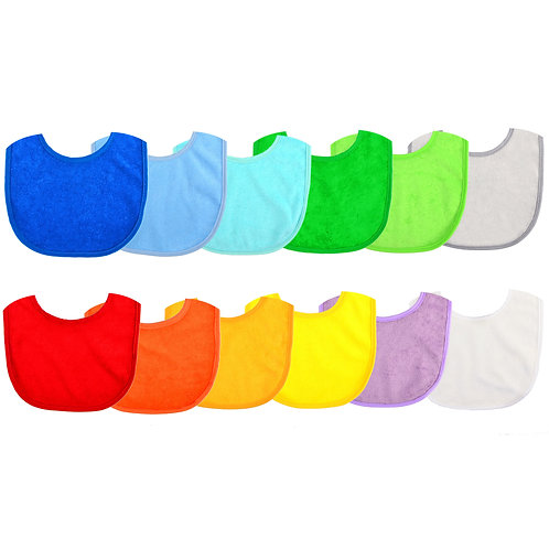 12 Baby Bibs , Stay Dry Soft Waterproof Baby Terry Bibs for 3 To 12 Months Mo