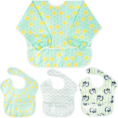 Youngever 4 Pack SuperBib Baby Bib 6-24 Months