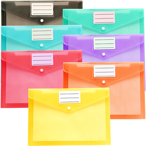 21 Pack Plastic Envelopes Poly Envelopes, Clear Document Folders