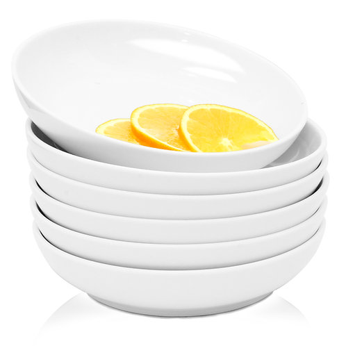 Youngever 22 Ounce Porcelain Salad Pasta Bowls
