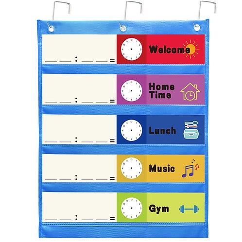 Youngever Classroom Pocket Chart, 5 Pocket