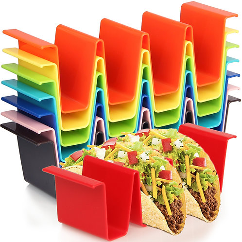 Youngever Taco Holder Stand Set of 8, Regular Size, Taco Plate