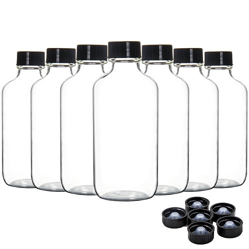 Youngever 16 Pack Empty Glass Bottles with Lids, 4 Ounce Refillable Container