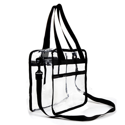 Clear Bag - 12 X 6 X 12 (inch) - Stadium Approved - Clear tote bag
