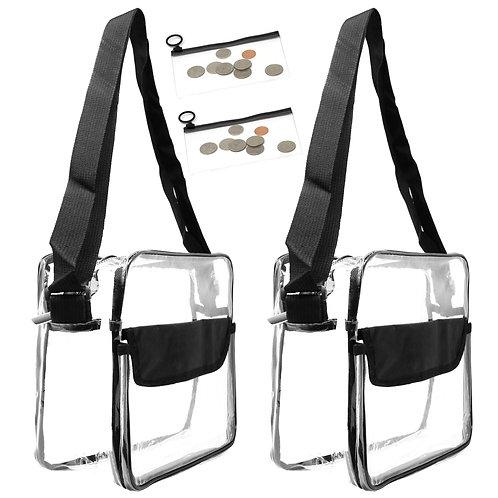 2 Pack Clear Messenger Bag