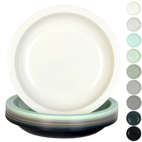 Youngever 7.5 Inch Plastic Plates, Small/Kid Size, Kids Plates, Urban Colors