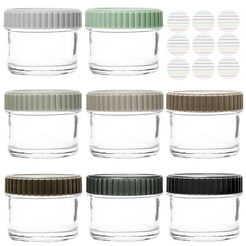 Youngever Glass Baby Food Storage, 4 Ounce Stackable Baby Food Glass Containers