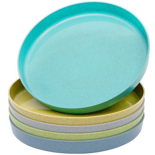 Youngever 8 Inch Bamboo Plates, Small Plate, Kid Size, Kids Plates