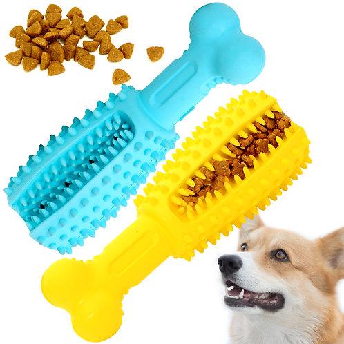 Youngever 2 Pack Dog Treat Toys for Pet Teeth Cleaning, Chewing, Large 5.8 inch