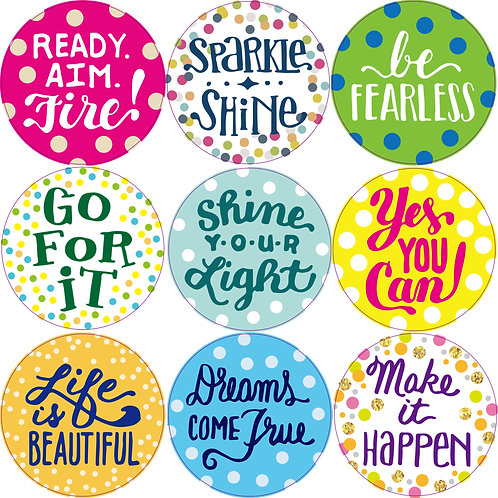 Youngever Confetti Positive Saying Bulletin Board, 80 Pieces