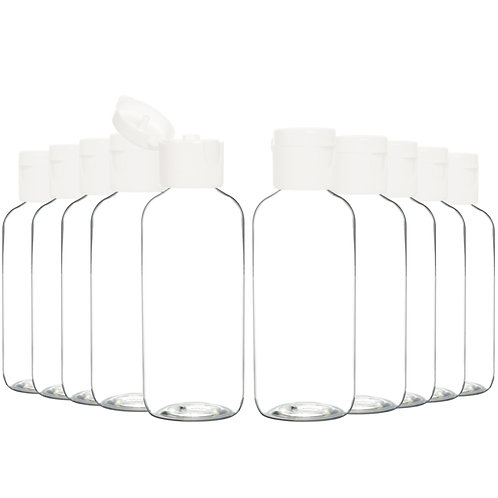 Youngever 24 Pack Plastic Empty Bottles with Disc Cap 2 Ounce