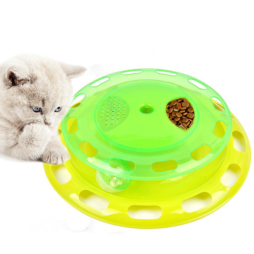 Youngever Cat Toy Tower of Track, Cat Interactive Play Station