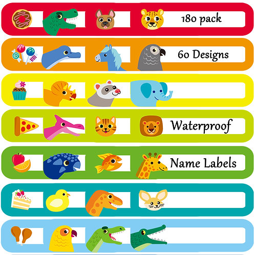180 Pcs Baby Bottle Labels for Daycare, Waterproof, Self-lamination, Write-on, F
