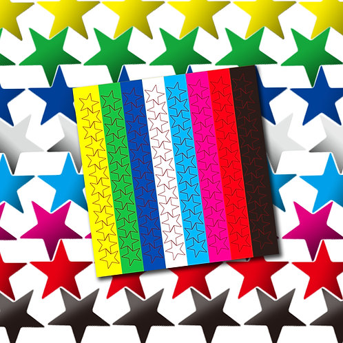 Youngever 3840 Color Foil Star Stickers, Assorted Colors