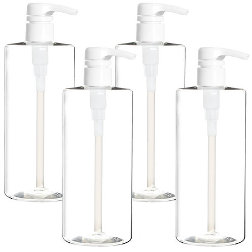 Youngever 4 Pack Pump Bottles for Shampoo 24 Ounce, Empty Shampoo Pump Bottles