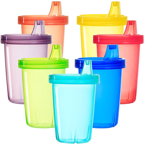 Youngever 7 Pack Kids Sippy Cups, Spill Proof Sippy Cups for Infant, Kids