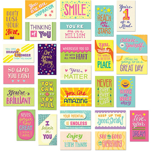 Youngever 300 Pack Motivational Quote Cards, 100 Unique Inspirational Designs