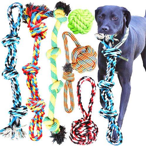 Youngever 6 Pack Large Dog Rope Toys, Dog Chew Toys, Dog Toys for Large, XL Dog
