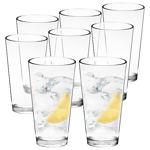 Youngever 22 oz Clear Plastic Tumblers, 6 Pack