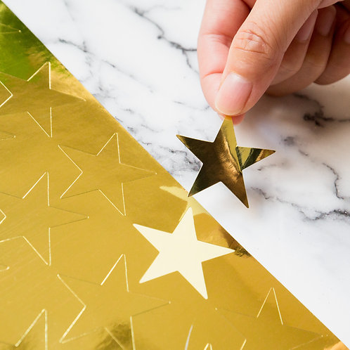 Youngever 1000 pcs Gold Foil Star Stickers for Kids, Reward Stickers