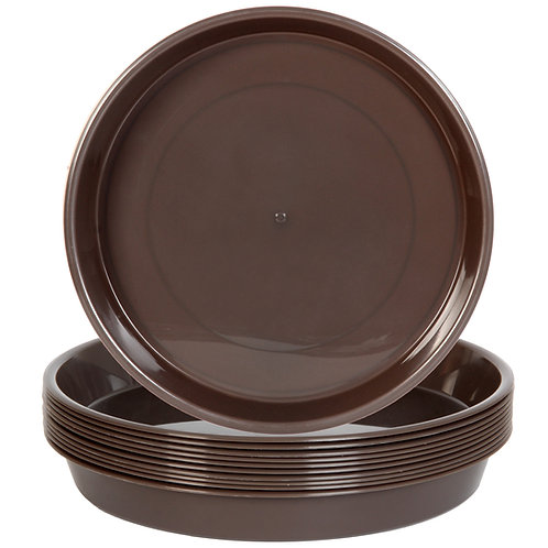 Youngever 10 Pack 10 Inch Plastic Plant Saucers, Heavy Duty Plastic Saucers