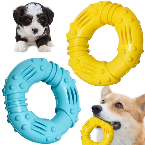 Youngever 2 Pack Dog Toys for Pet Teeth Cleaning, Chewing, Fetching, 4.7 Inch