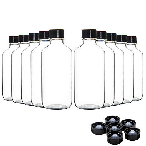 Youngever 16 Pack Empty Glass Bottles with Lids, 2 Ounce Refillable Container