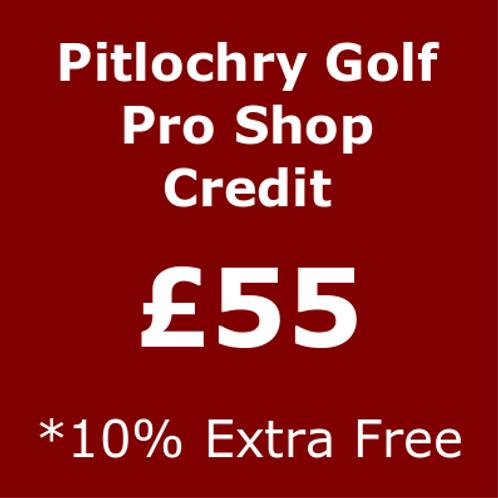 £55 Pro Shop Credit