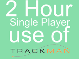 2 Hour Single Player Trackman Hire