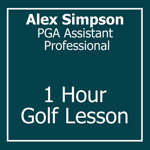 1 Hour Golf Lesson with Alex Simpson