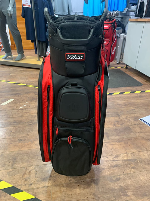Titleist 14 players cart bag Black/ red/ white