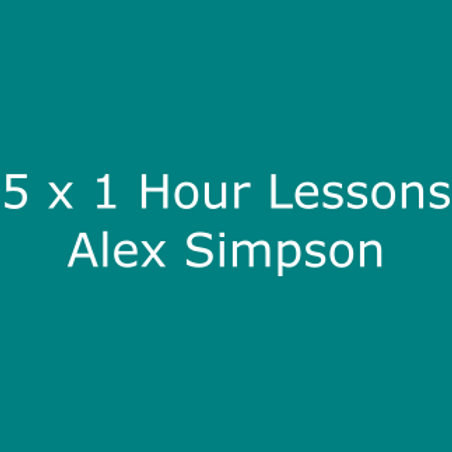 5 x 1 Hour Golf Lessons with Alex Simpson