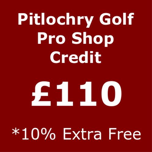 £110 Pro Shop credit.
