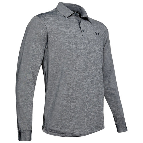 Under Armour Playoff Polo Long Sleeve Grey