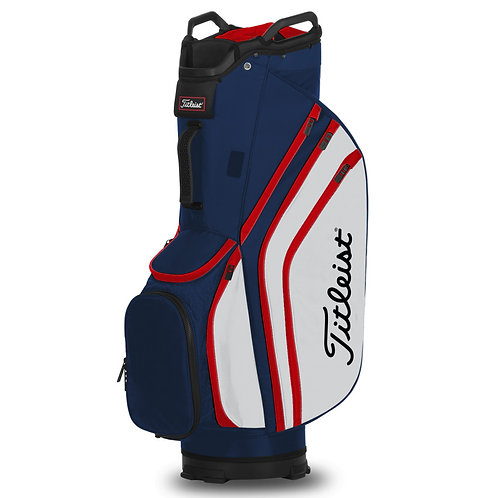 Titleist 14 players cart bag Navy/white/red