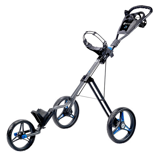 Motocaddy P1 Push Trolley, Graphite & Blue