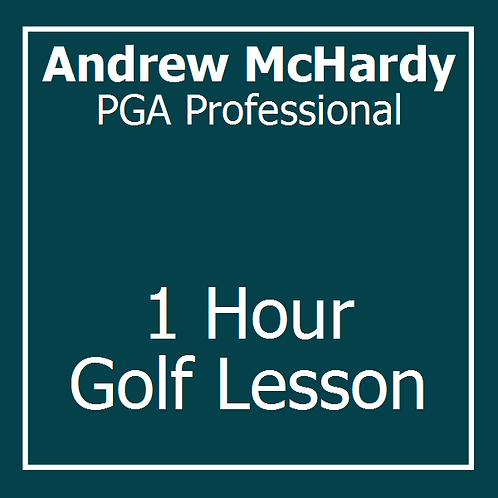 1 Hour Golf Lesson with Andrew McHardy