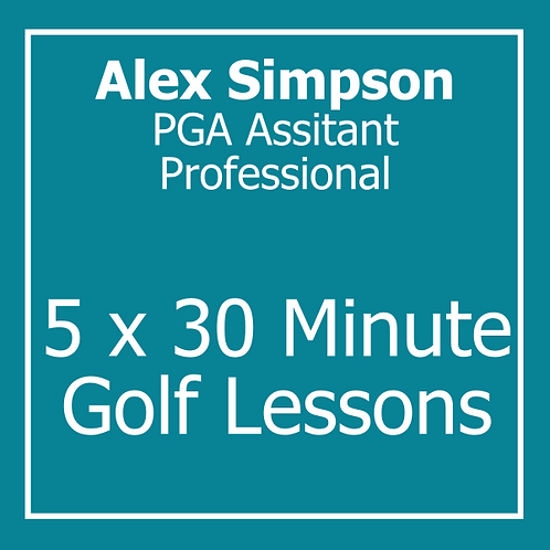 5 x 30 minute Golf Lessons with Alex Simpson