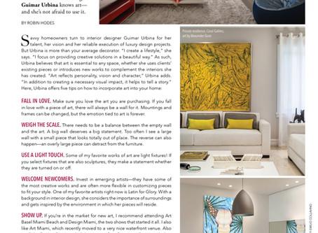 Guimar Urbina Interiors features in South Florida Luxury GUIDE