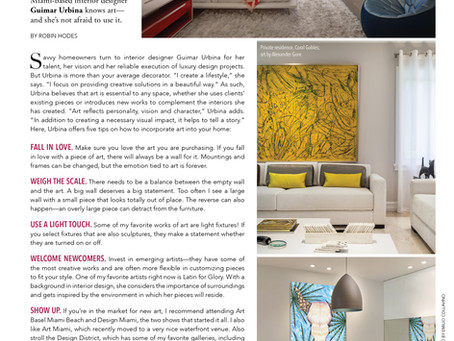 Guimar Urbina Interiors features in South Florida Luxury GUIDE