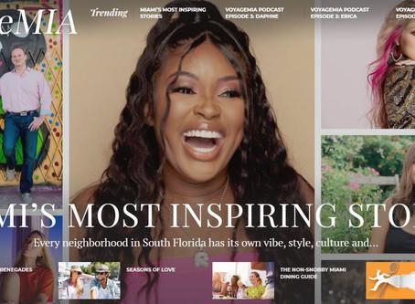 Guimar Urbina feature in VoyageMIA Magazine