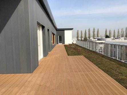 900m2 bureau En surélévation ossature bois et isolant écologique à Bron