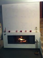 Mise en peinture d'une cheminée