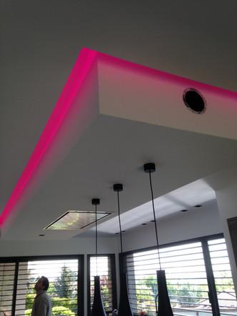 Faux plafond dans une cuisine