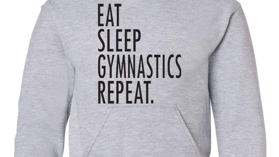 Eat, Sleep, Gymnastics Hoodie