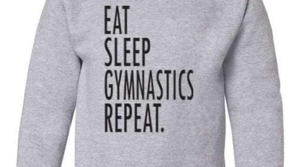 Eat, Sleep, Gymnastics Crewneck