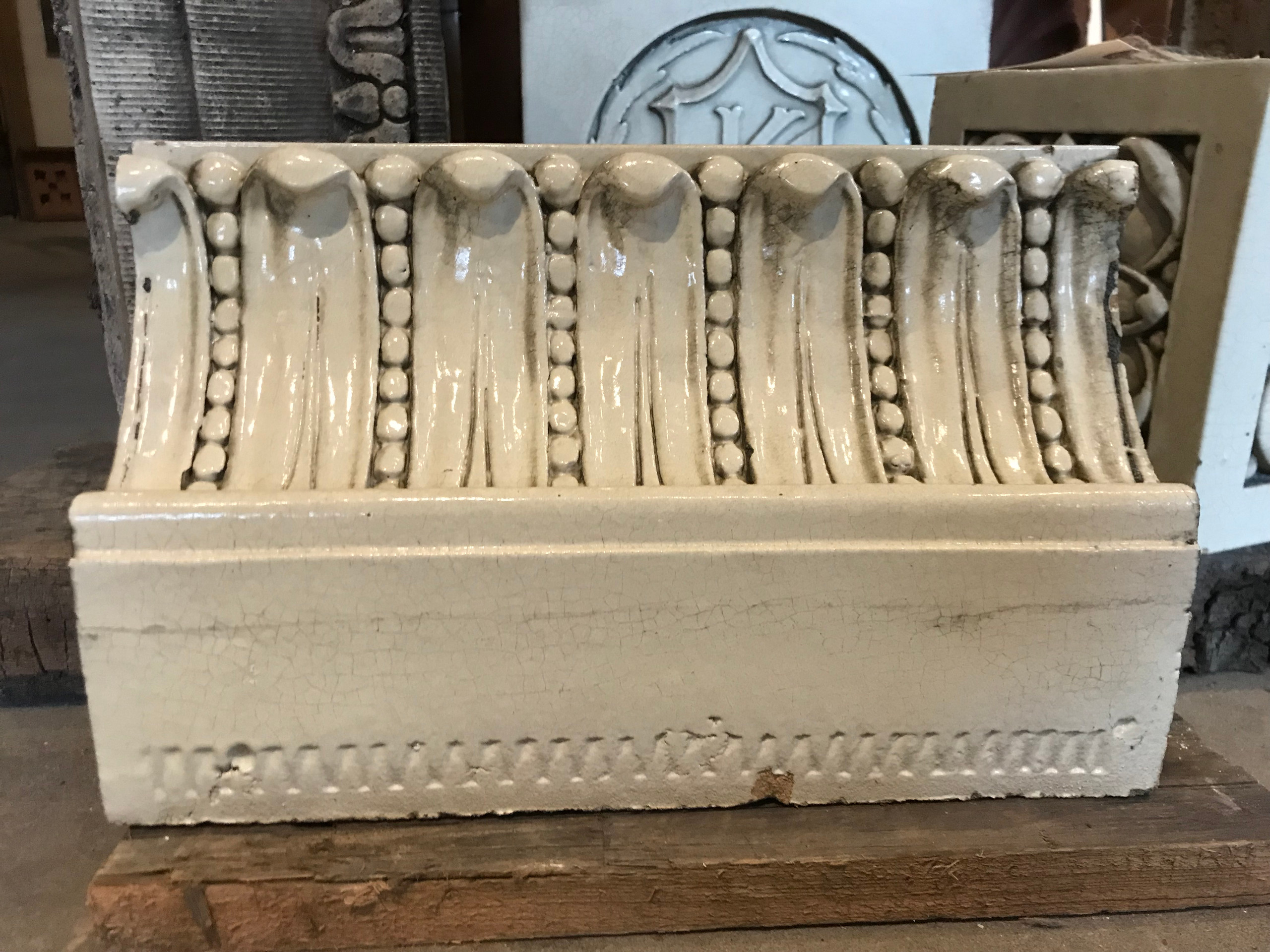 Architectural cornice piece from the Kingsland movie theatre.