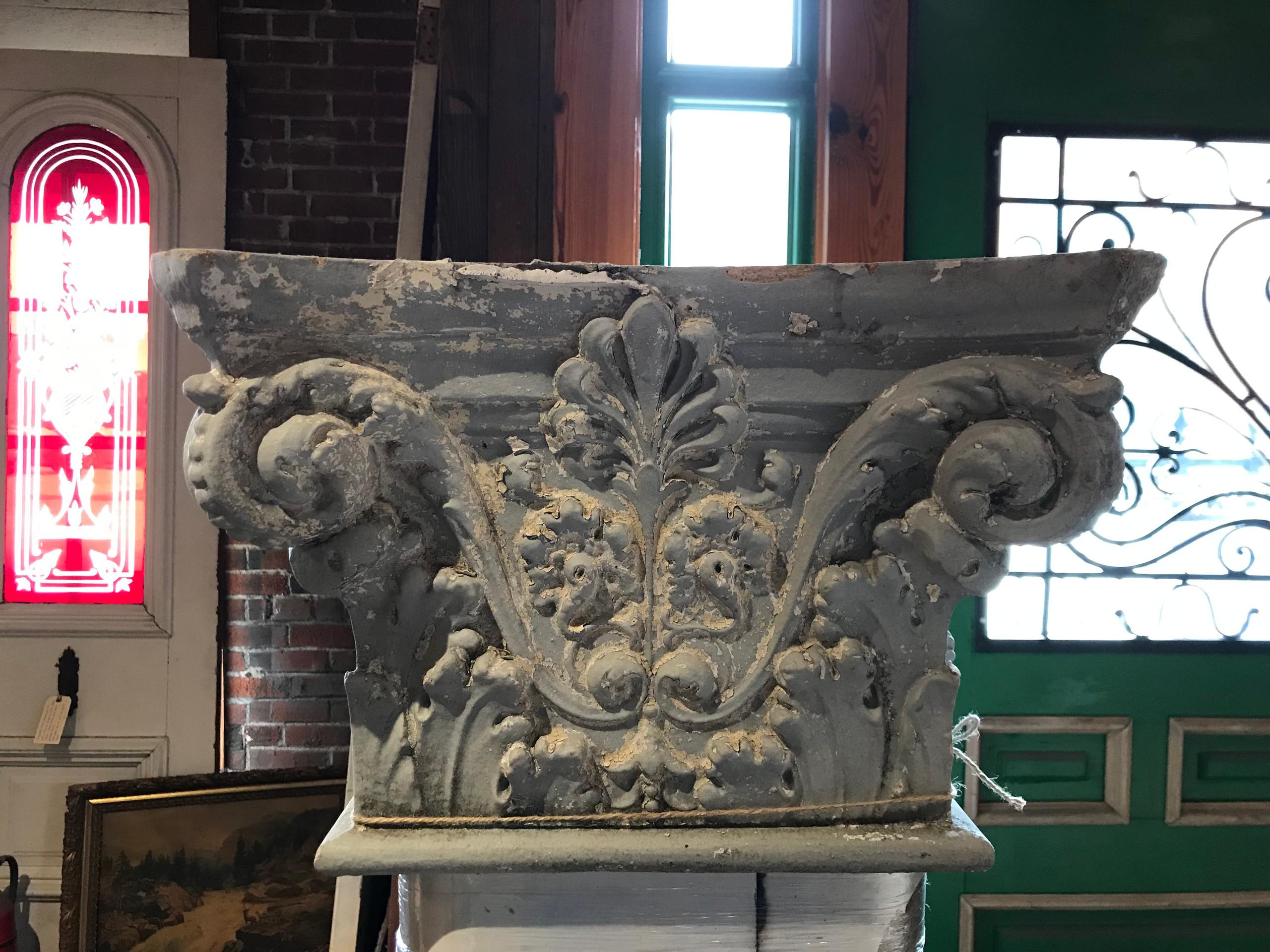 Corinthian caps for the porch columns.