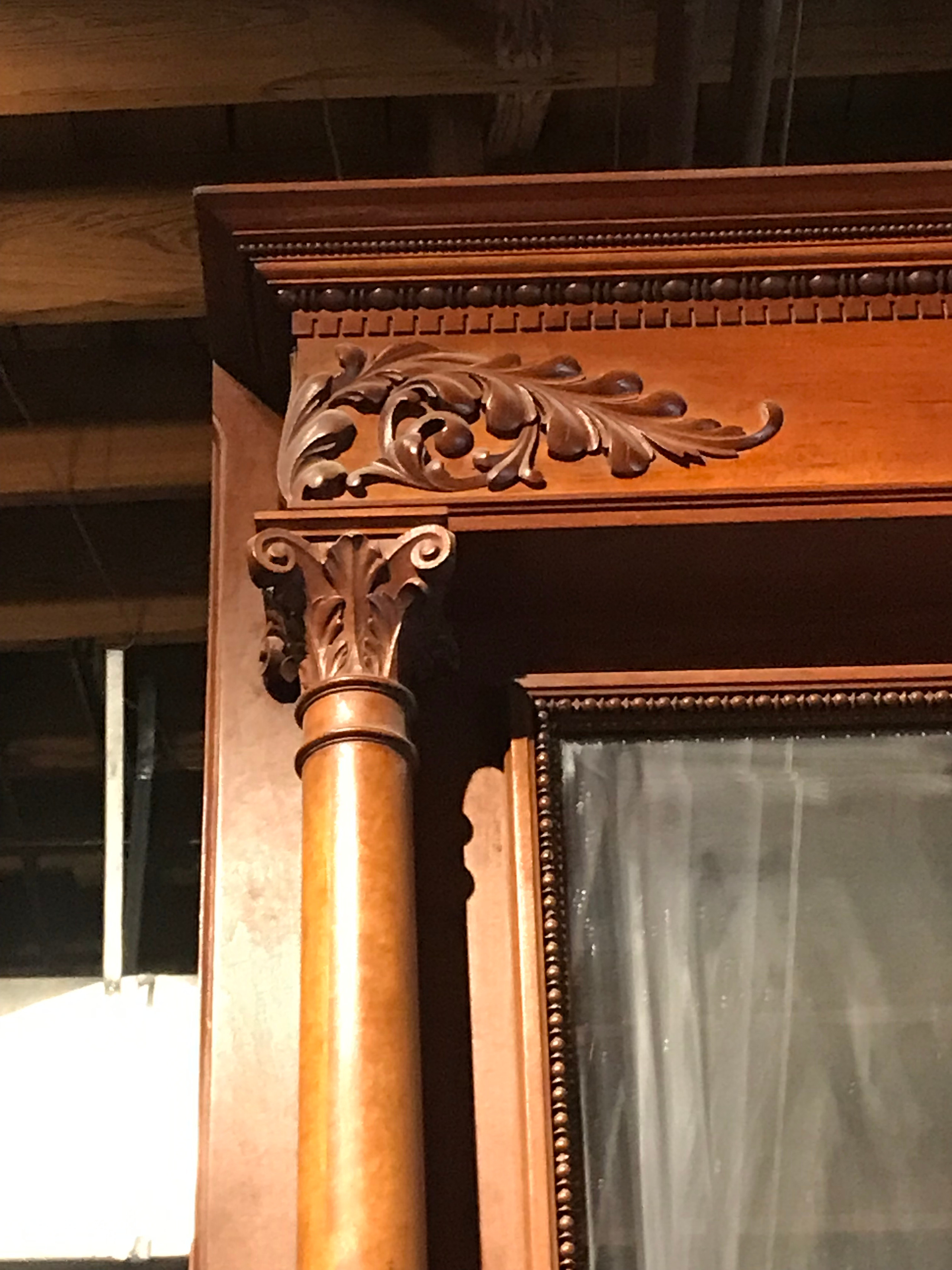 Detail from cherry wood fireplace surround from Ursuline Academy.