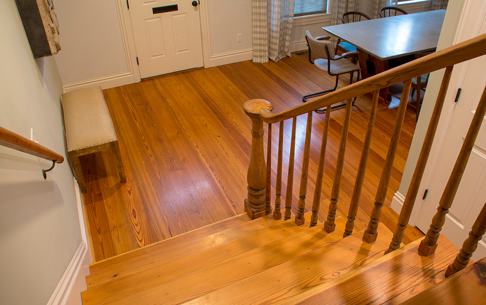 Private Residence, stairs and floor.